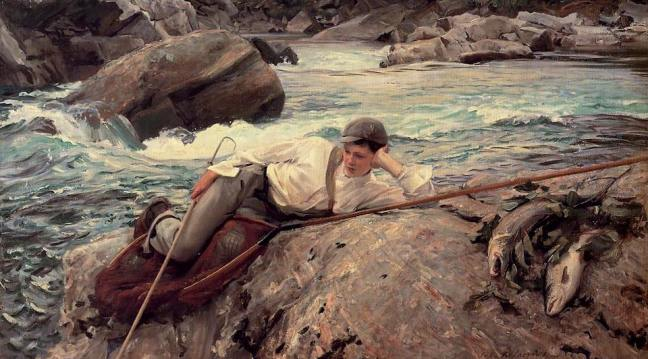 On His Holidays, Norway by John Singer Sargent, oil on canvas, 1901