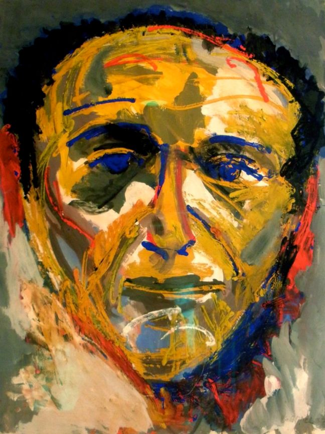 Karel Appel's Portrait of Theo Wolvecamp, in the Collection of Hote Ambassade - Amsterdam