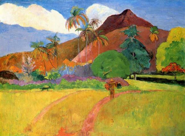 gauguin Tahitian Mountains, 1893.