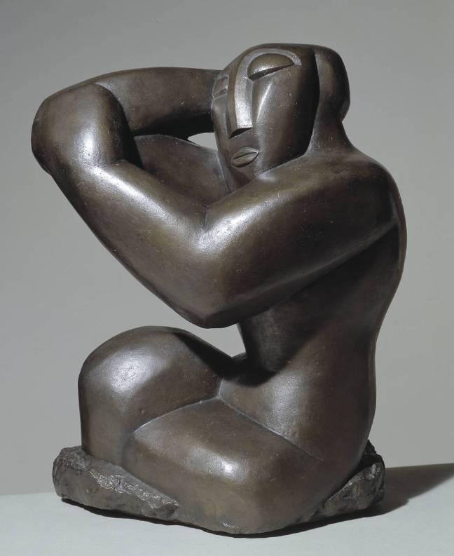 Seated Woman 1914, posthumous cast by Henri Gaudier-Brzeska 1891-1915