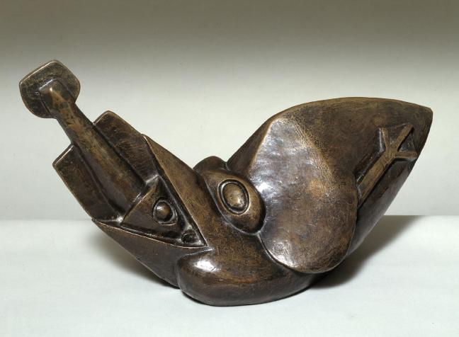 Bird Swallowing a Fish c.1913-4, cast 1964 by Henri Gaudier-Brzeska 1891-1915