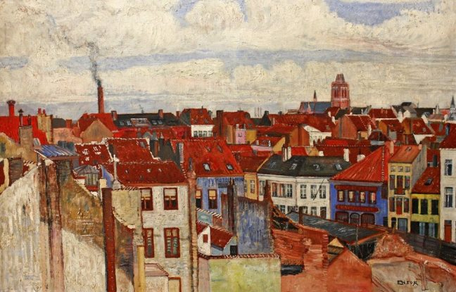 James Ensor (1860-1949) Roofs of Ostend, 1901