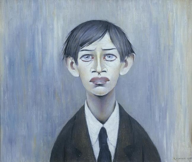 A Young Man 1955 by L.S. Lowry 1887-1976