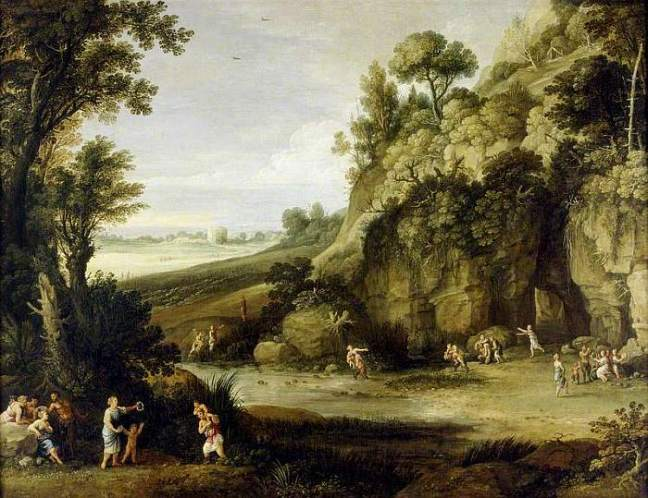 Bril, Paul, 1554-1626; Mythological Landscape with Nymphs and Satyrs