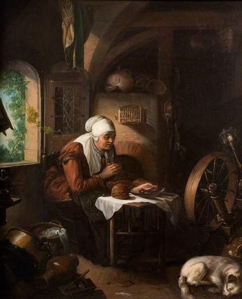 Dou, Gerrit, 1613-1675; Grace before Meat