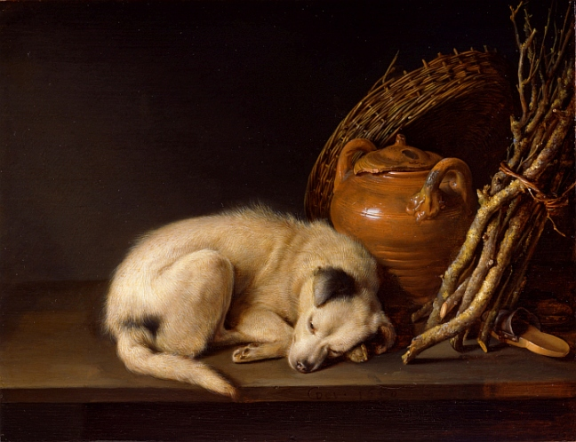 Sleeping Dog, 1650, Gerrit Dou