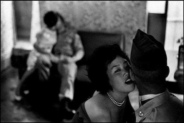 SOUTH KOREA. 1961. Tae Song Dong. Women entertaining GIs.