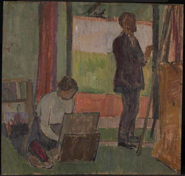 Frederick and Jessie Etchells Painting 1912 by Vanessa Bell 1879-1961