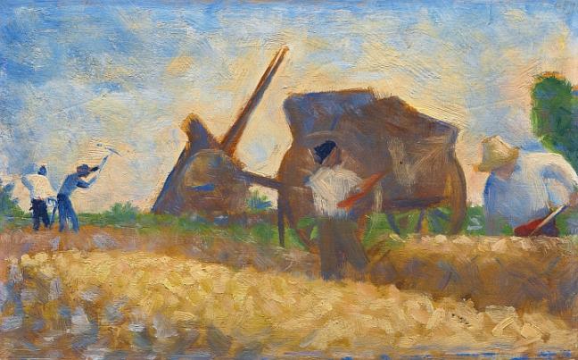 Les terrassiers (casseurs de pierres), by Georges Seurat
