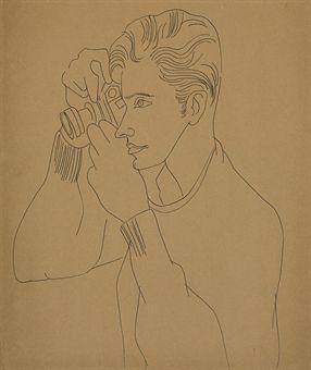Portrait of Edward Wallowitch by Andy Warhol, circa 1961