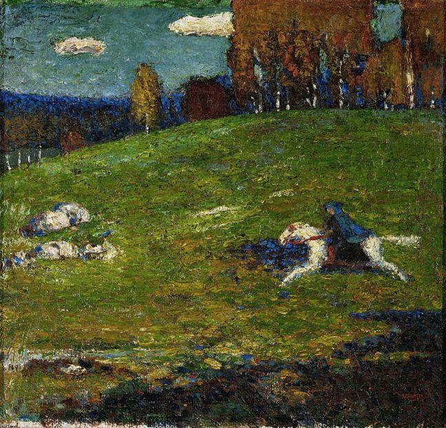 Wassily_Kandinsky,_1903,_The_Blue_Rider_(Der_Blaue_Reiter),_oil_on_canvas,_52.1_x_54.6_cm,_Stiftung_Sammlung_E.G._Bührle,_Zurich